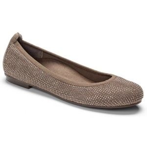 {VIONIC} NWOB SPARK WILLOW TAUPE ORTHO FLATS